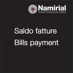 Saldo fatture - Bills payment