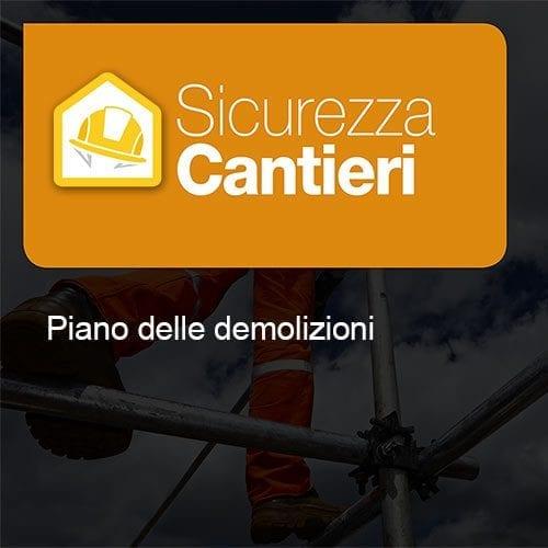 icurezza Cantieri Piano Demolizioni