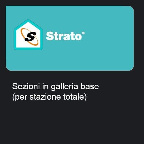Strato - Sezioni in galleria base (per stazione totale)