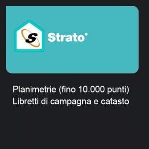 Strato - Planimetrie (fino 10.000 punti) + Libretti di campagna e catasto