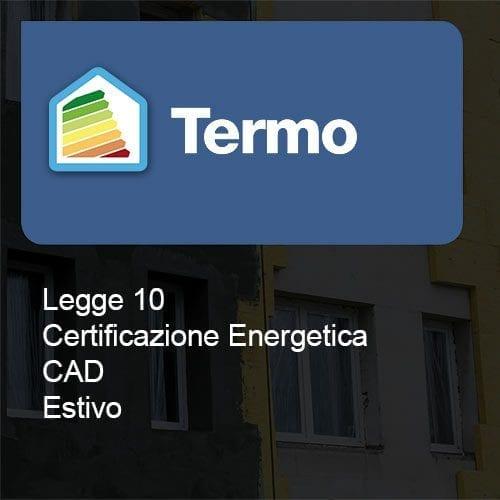 Termo Legge10 certificazione cad estivo