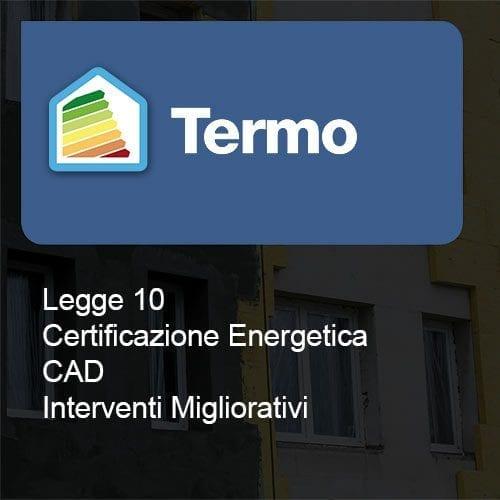 Termo Legge 10 certificazione cad interventi